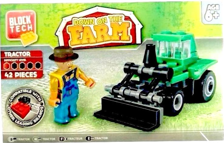 BLOCK TECH DOWN ON THE FARM TRACTOR SET | Cheap Toys | PoundToy