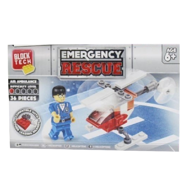 BLOCK TECH EMERGENCY RESCUE AIR AMBULANCE | Cheap Toys | PoundToy
