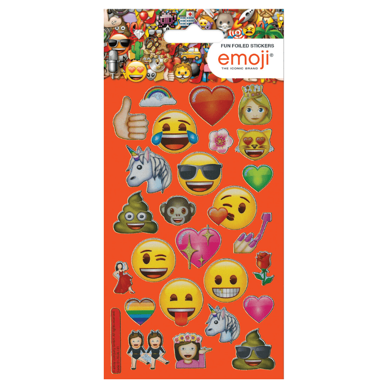 EMOJI FOIL STICKERS | Cheap Toys | PoundToy