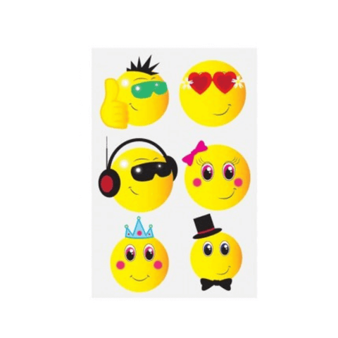 EMOJI TEMPORARY TATTOOS | Cheap Toys | PoundToy