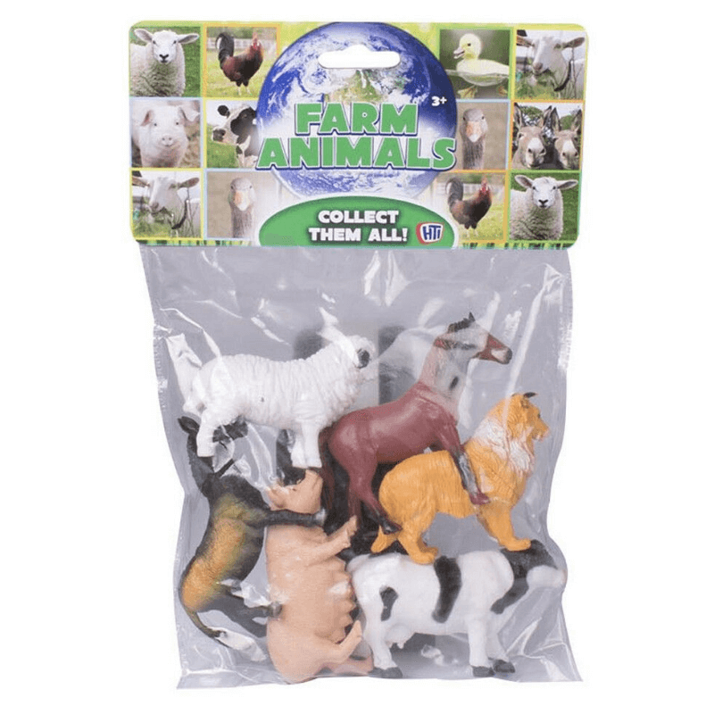 Farm Animals Farm Toy Figures 6 Pack