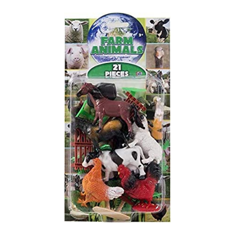 Farm Animals 21 Piece Set