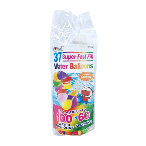 37 SUPER FAST FILL WATER BALLOONS | Cheap Toys | PoundToy