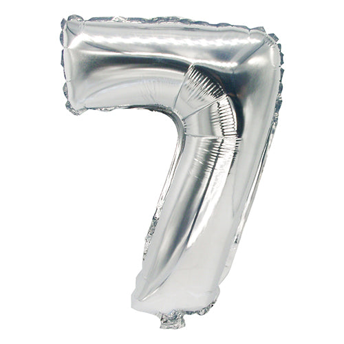 SILVER FOIL BALLOON - NUMBER 7 | Cheap Toys | PoundToy