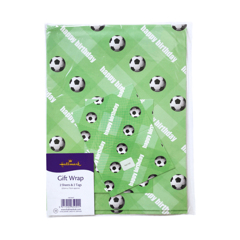 hallmark football wrapping paper