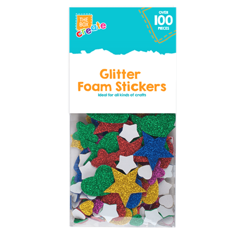 GLITTER FOAM CRAFT STICKER SHAPES | Cheap Toys | PoundToy