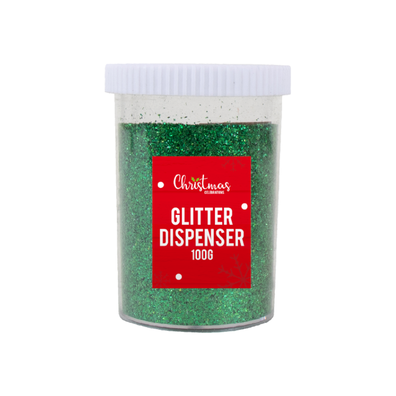 GREEN GLITTER DISPENSER