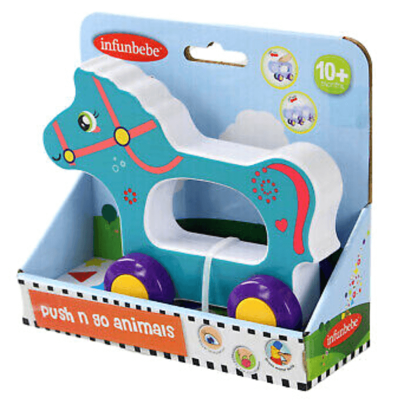 HORSE PUSH N GO ANIMAL BY INFUNBEBE™ | Cheap Toys | PoundToy