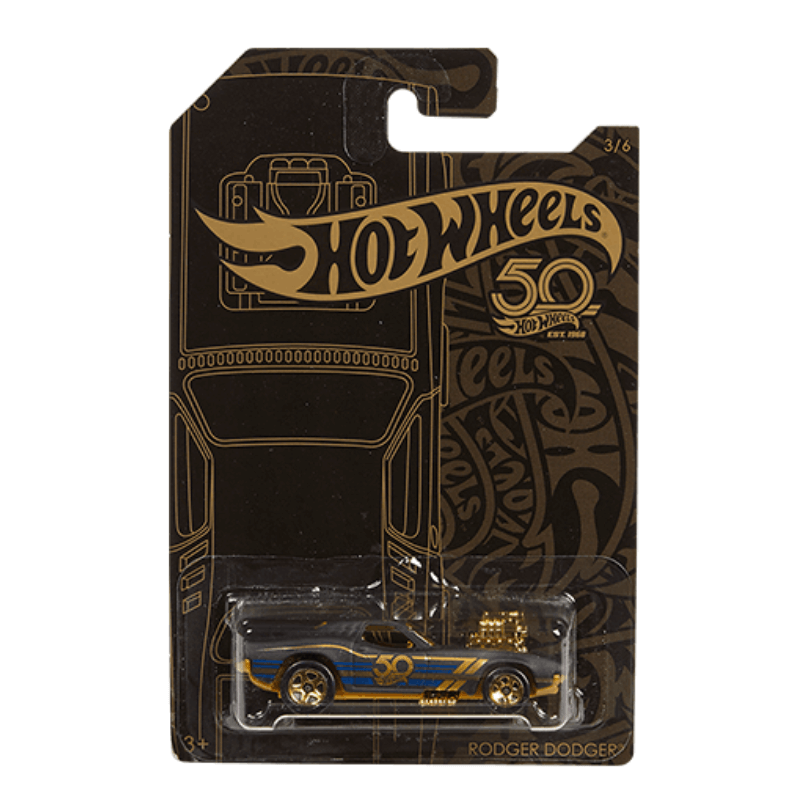 HOT WHEELS 50TH ANNIVERSARY RODGER DODGER VEHICLE