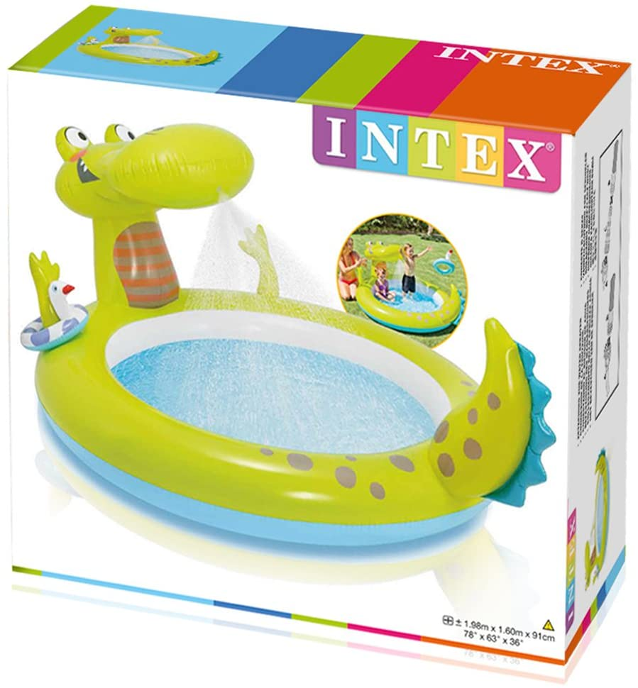 INTEX LARGE OUTDOOR GATOR SPRAY POOL