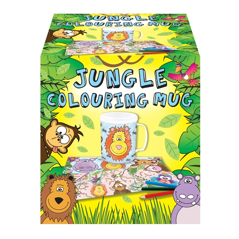 JUNGLE COLOURING MUG | Cheap Toys | PoundToy