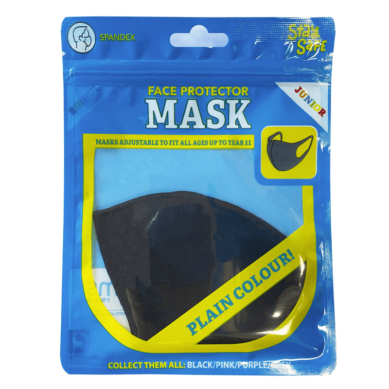 Junior Face Protector Mask - Black