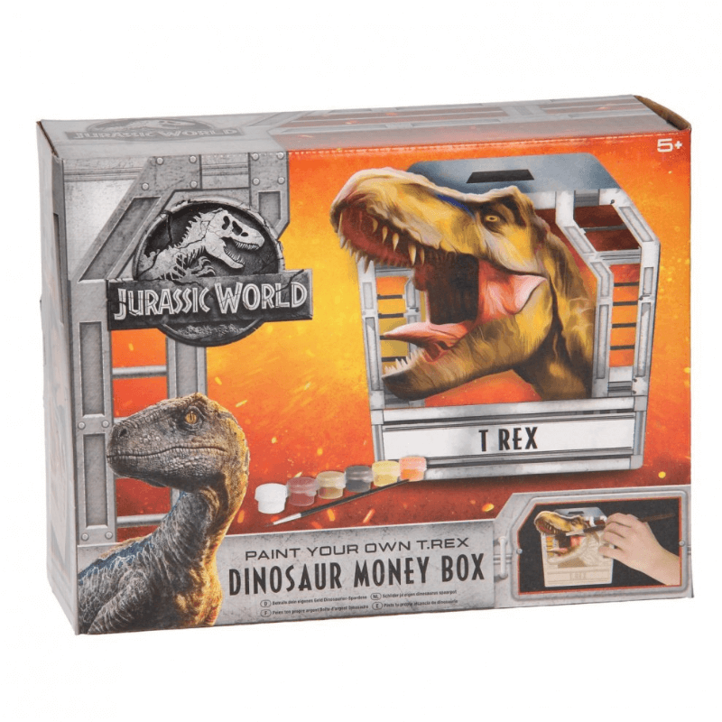 JURASSIC WORLD PAINT YOUR OWN T. REX MONEY BOX | Cheap Toys | PoundToy