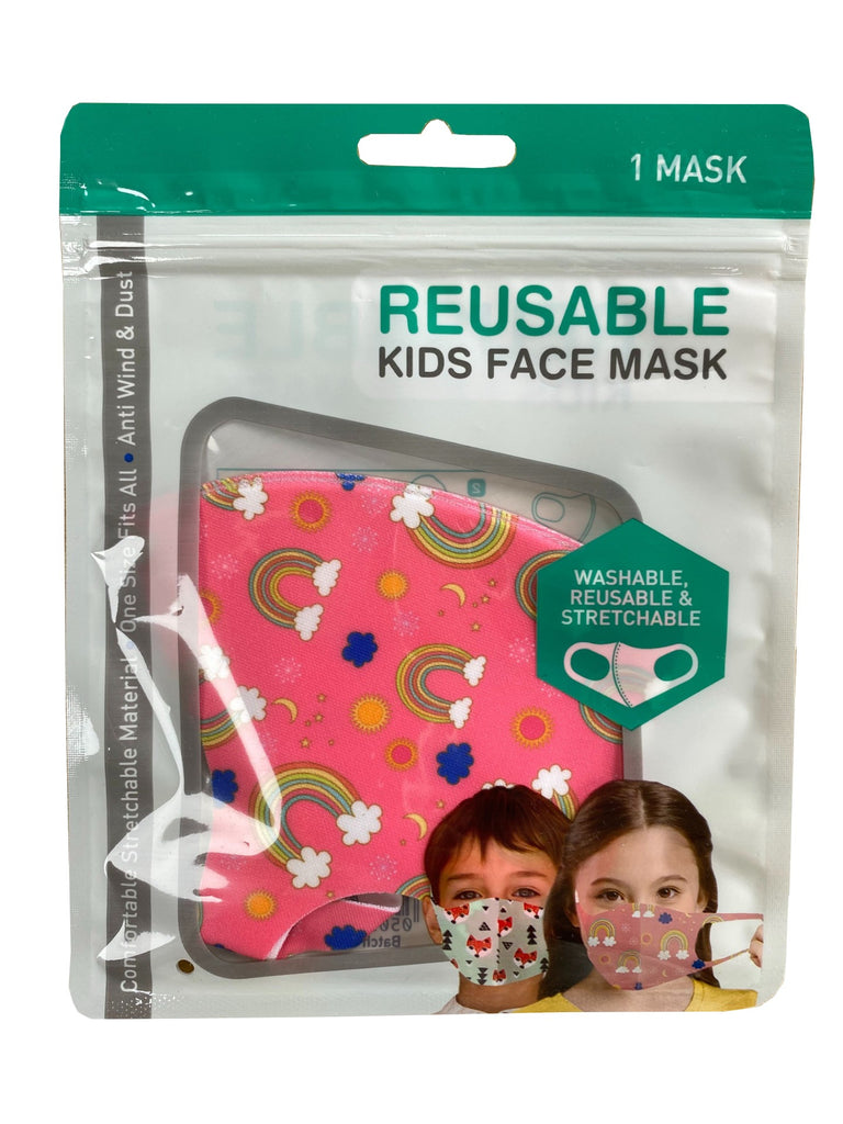 REUSABLE KIDS FACE MASK - RAINBOW