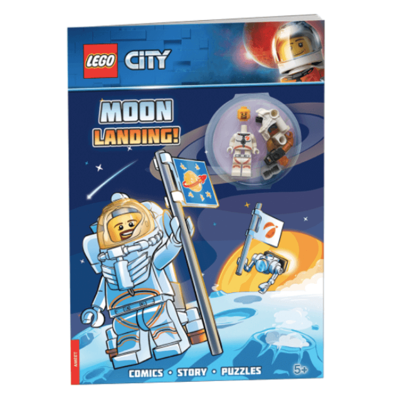 Lego City Moon Landing Activity Book & Figure