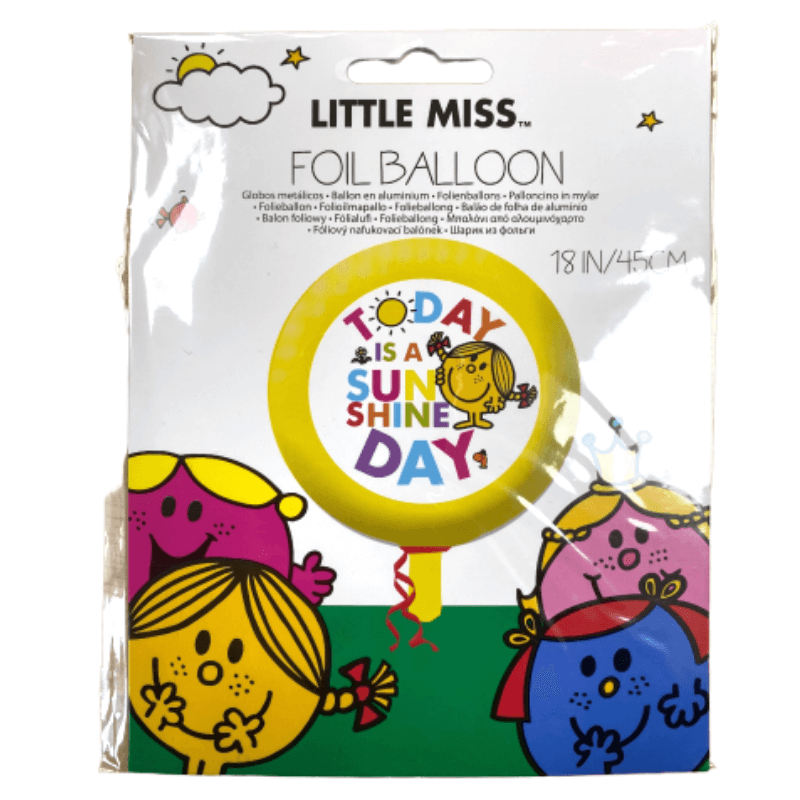LITTLE MISS TODAY IS A SUNSHINE DAY FOIL BALLOON 45CM