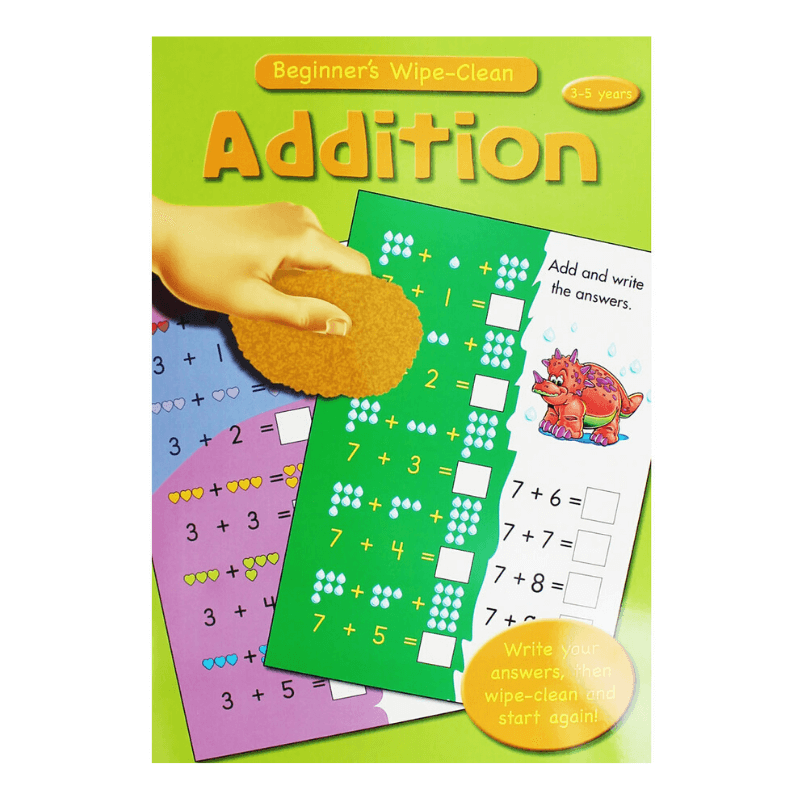 MATHS ADDITION WIPE-CLEAN BOOK
