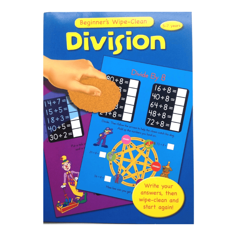Maths Division Wipe-Clean Book
