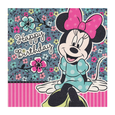 Minnie Mouse Happy Birthday Card