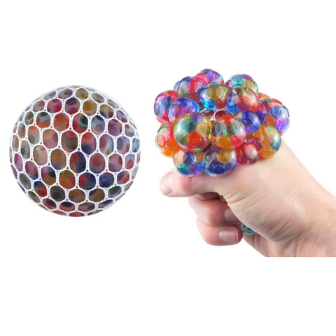 MULTICOLOURED SQUISHY MESH BALL