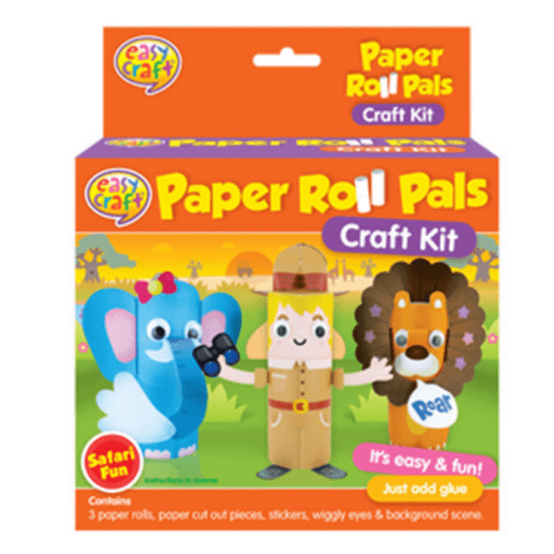 PAPER ROLL PALS SAFARI CRAFT KIT | Cheap Toys | PoundToy