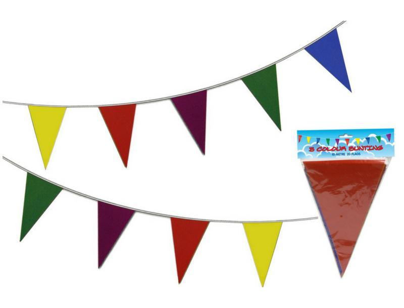 RAINBOW BUNTING MULTI-COLOURED PARTY PENNANTS | Cheap Toys | PoundToy