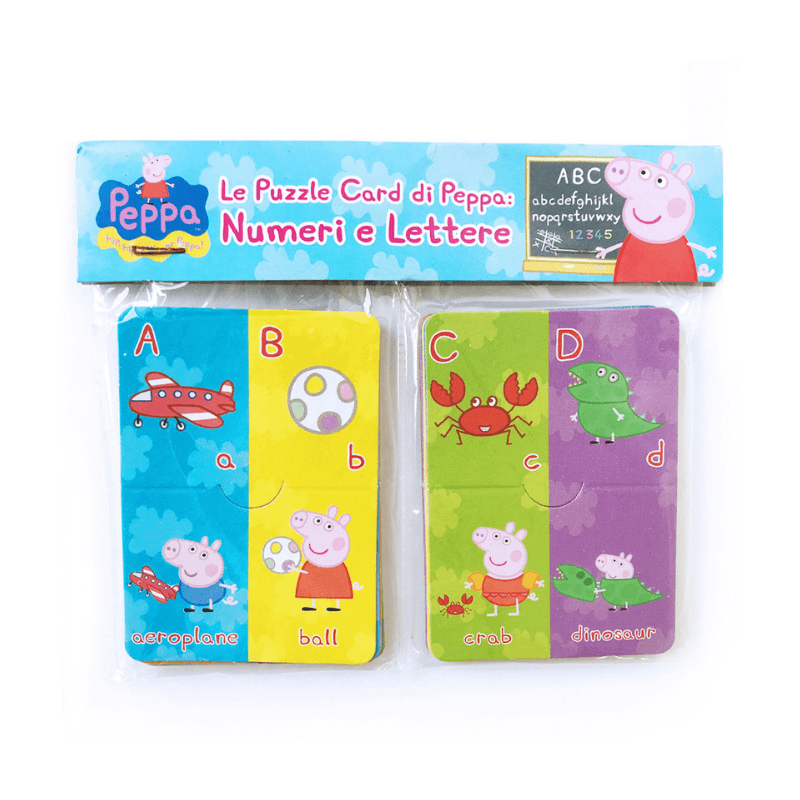 Peppa Pig Puzzle Cards//Flash Cards.. Letters and Numbers..educational//learning