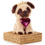 SEQUIN COLLECTION PUG SOFT TOY 28CM