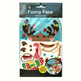 REINDEER FUNNY FACE STICKER SET | Cheap Toys | PoundToy