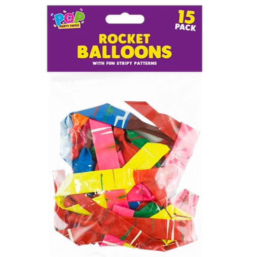 PARTY TIME 15 ROCKET BALLOONS | Cheap Toys | PoundToy