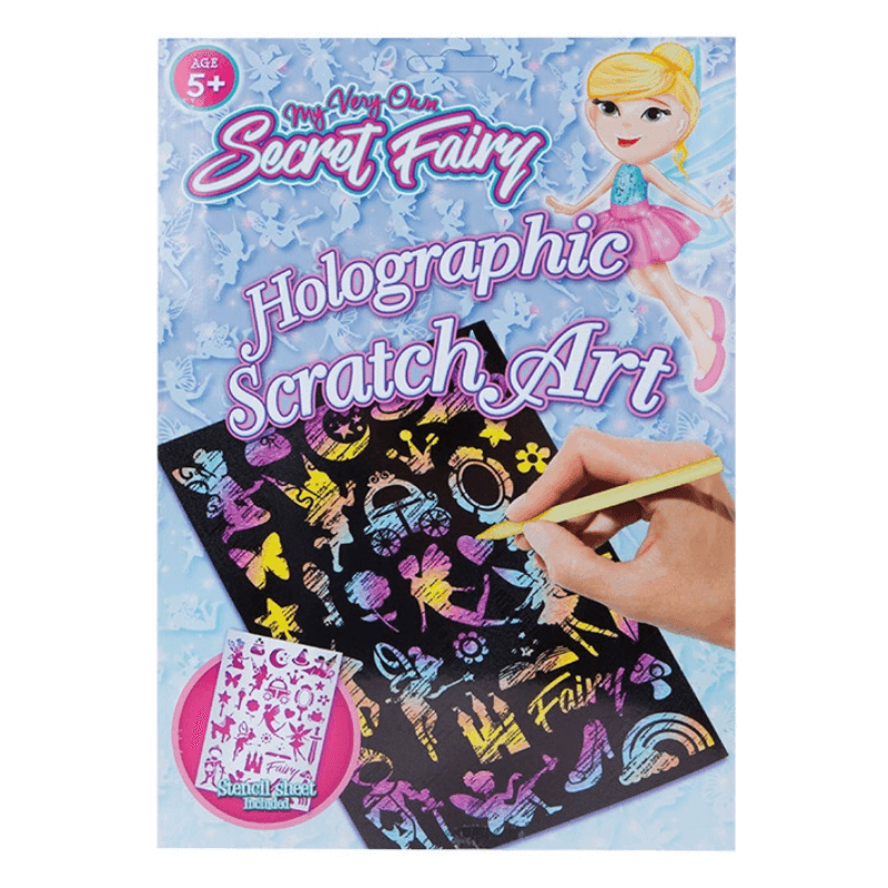 SECRET FAIRY HOLOGRAPHIC SCRATCH ART | Cheap Toys | PoundToy