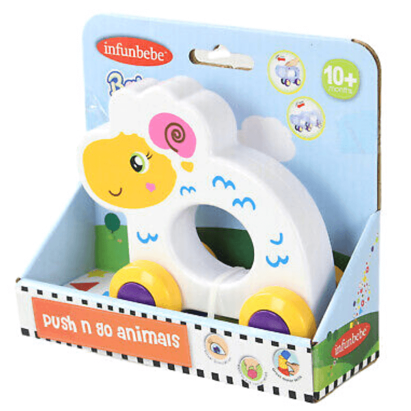 SHEEP PUSH N GO ANIMAL BY INFUNBEBE™ | Cheap Toys | PoundToy