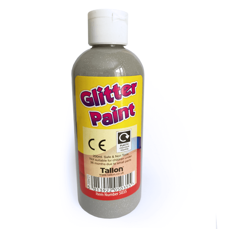 Silver Glitter Craft Paint 200ml