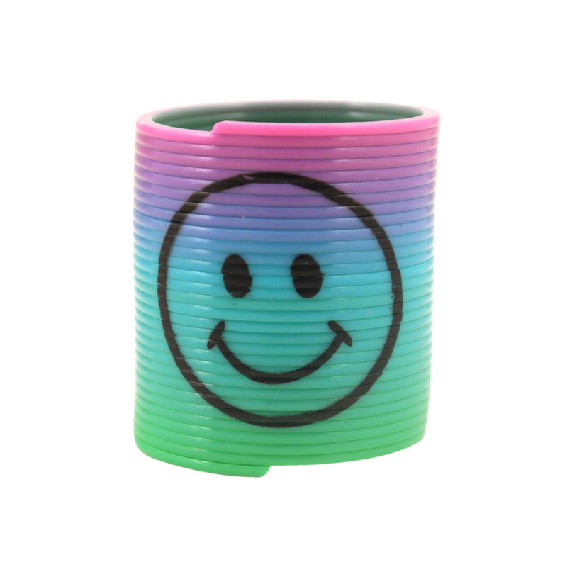 MINI SMILEY FACE SLINKY SPRING | Cheap Toys | PoundToy