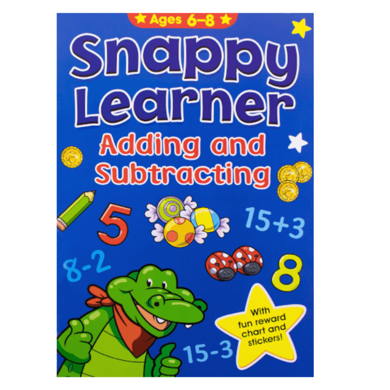 SNAPPY LEARNER ADDING AND SUBTRACTING ACTIVITY BOOK AGE 6-8 | Cheap Toys | PoundToy