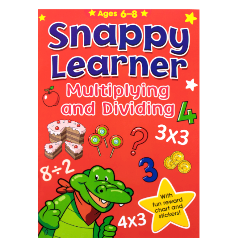 SNAPPY LEARNER MULTIPLYING AND DIVIDING ACTIVITY BOOK AGE 6-8 | Cheap Toys | PoundToy