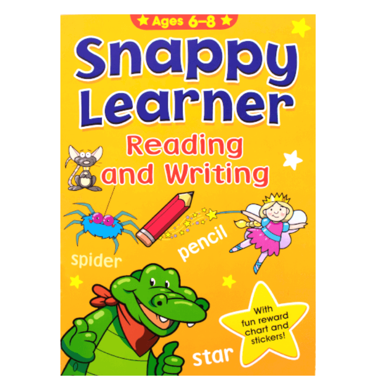 SNAPPY LEARNER READING AND WRITING ACTIVITY BOOK AGE 6-8
