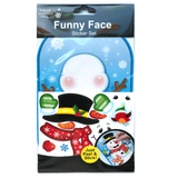 SNOWMAN FUNNY FACE STICKER SET | Cheap Toys | PoundToy