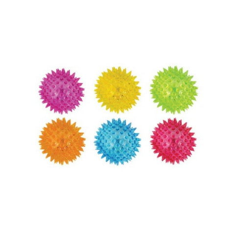 Spiky Flashing Balls 6 colours