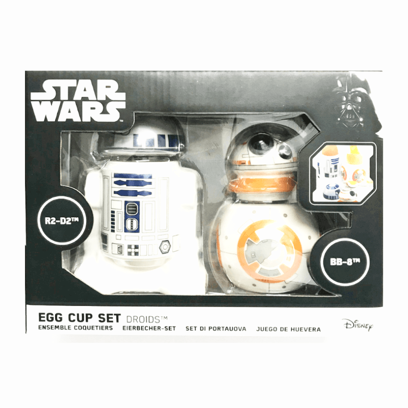 STAR WARS R2-D2 & BB-8 EGG CUP SET BY FUNKO