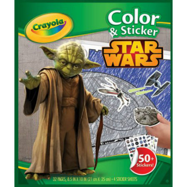 CRAYOLA STAR WARS COLOURING & STICKER SET | Cheap Toys | PoundToy