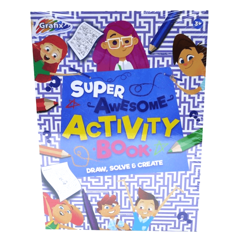GRAFIX SUPER AWESOME ACTIVITY BOOK | Cheap Toys | PoundToy