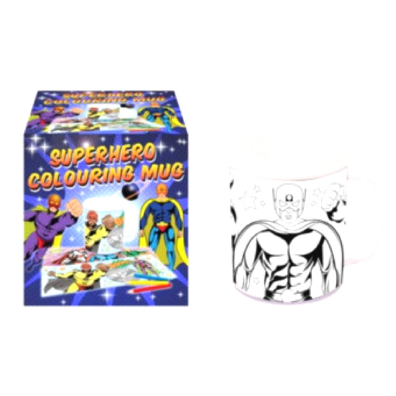 SUPERHERO COLOURING MUG | Cheap Toys | PoundToy