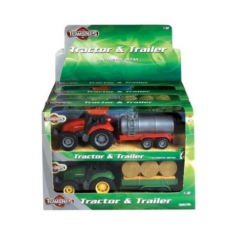 Teamsterz Tractor & Trailer Set in display unit