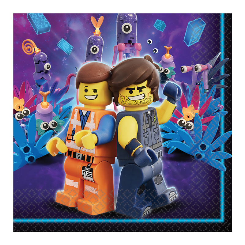 The Lego Movie Lunch Napkins 16 Pack