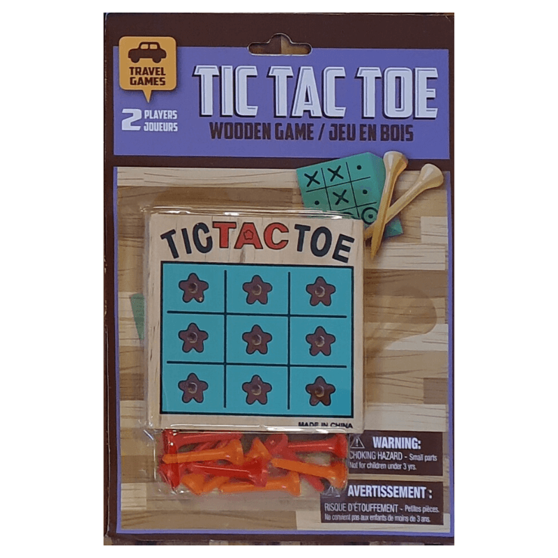 TIC TAC TOE WOODEN TRAVEL GAME