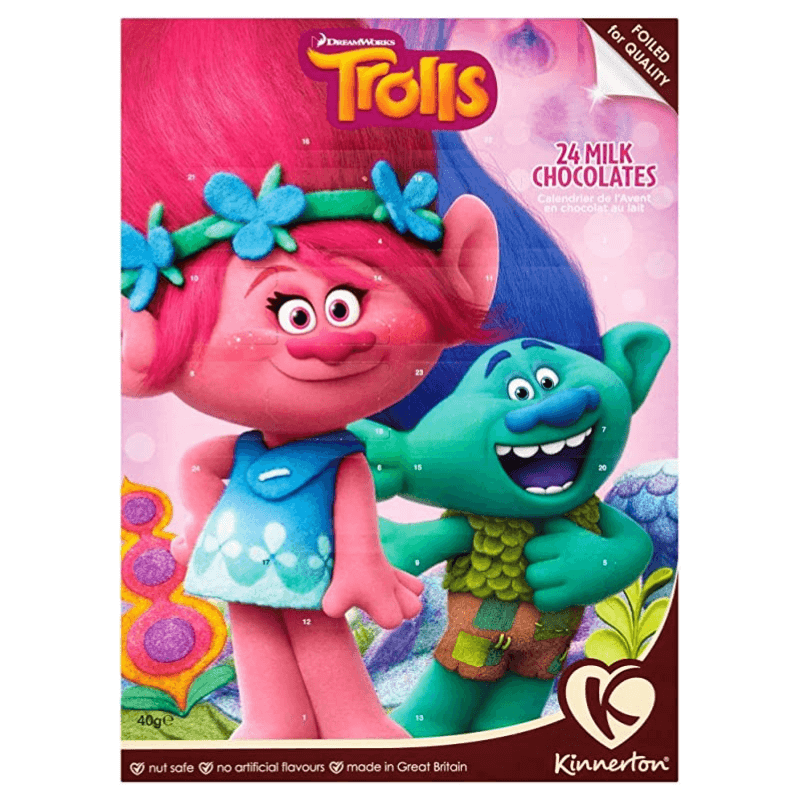 Dreamworks Trolls Milk Chocolate Advent Calendar