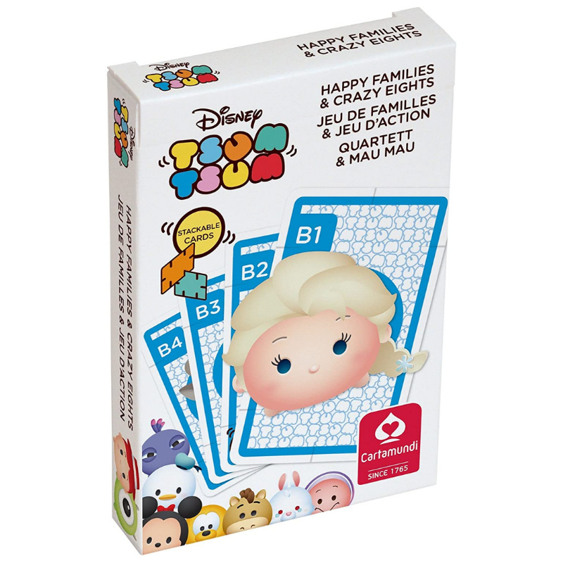 DISNEY TSUM TSUM 2 IN 1 PLAYING CARDS