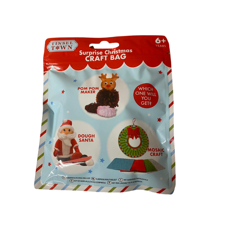 TINSEL TOWN SURPRISE CHRISTMAS CRAFT BAG
