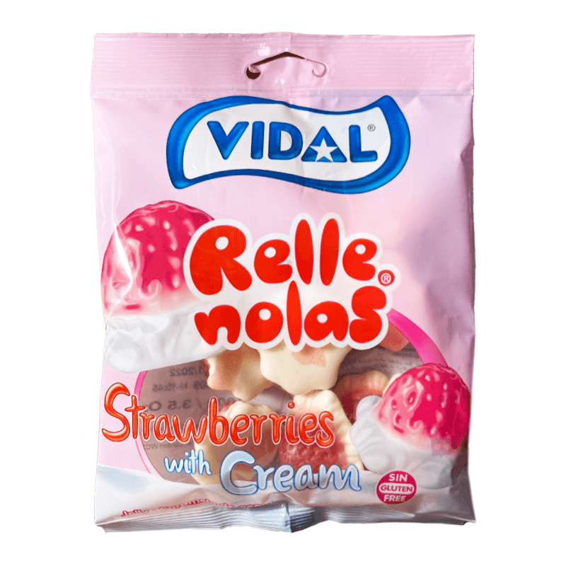 Vidal Jelly Filled Strawberries With Cream Sweets